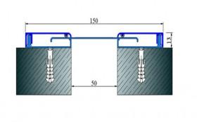 AR281-050 - Profile pentru pereti si tavane pentru rost de 50 mm