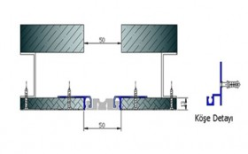 AR202-050UP - Profile pentru pereti si tavane pentru rost de 50 mm