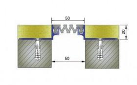 AR203-050 - Profile pentru pereti si tavane pentru rost de 50 mm