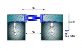 AR212-050 - Profile pentru pereti si tavane pentru rost de 50 mm