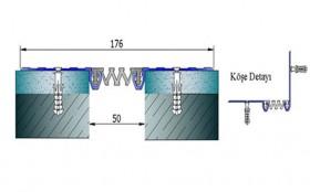 AR252-050 - Profile pentru pereti si tavane pentru rost de 50 mm