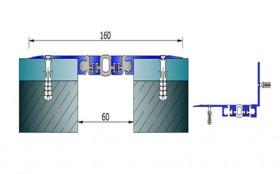 AR259-050 - Profile pentru pereti si tavane pentru rost de 50 mm