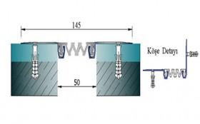 AR261-050 - Profile pentru pereti si tavane pentru rost de 50 mm