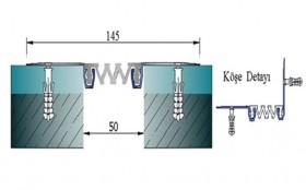 AR262-050 - Profile pentru pereti si tavane pentru rost de 50 mm