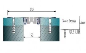 AR262-050UP - Profile pentru pereti si tavane pentru rost de 50 mm