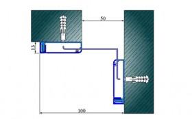 AR281-050K - Profile pentru pereti si tavane pentru rost de 50 mm
