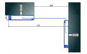 AR281-100K - Profile pentru pereti si tavane pentru rost de 100 mm