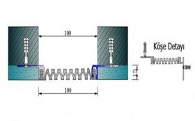 AR202-100 - Profile pentru pereti si tavane pentru rost de 100 mm