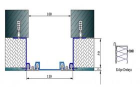 AR221-100S - Profile pentru pereti si tavane pentru rost de 100 mm