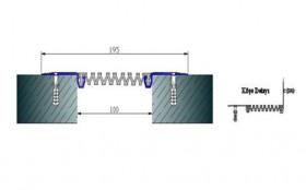 AR261-100 - Profile pentru pereti si tavane pentru rost de 100 mm