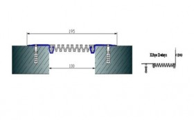 AR262-100 - Profile pentru pereti si tavane pentru rost de 100 mm