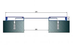 AR281-100 - Profile pentru pereti si tavane pentru rost de 100 mm