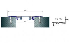 AR262-100S - Profile pentru pereti si tavane pentru rost de 100 mm