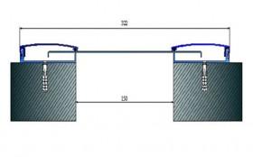 AR291-150 - Profile pentru pereti si tavane pentru rost de 150 mm