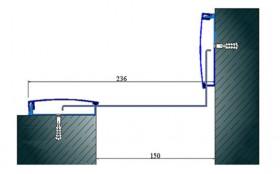 AR291-150 K - Profile pentru pereti si tavane pentru rost de 150 mm