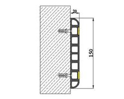 Protectii pereti RG150 - Protectii perete si colt pentru parcari