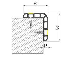 Protectie colturi RG80 - Protectii perete si colt pentru parcari
