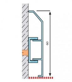 ASP 60 - plinta aluminiu - Profile pentru finisaje