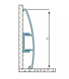 ASP 75 - plinta aluminiu - Profile pentru finisaje