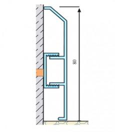 ASP 80 - plinta aluminiu - Profile pentru finisaje