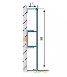 ASP 80 B - plinta aluminiu - Profile pentru finisaje