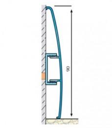 ASP 90 - plinta aluminiu - Profile pentru finisaje