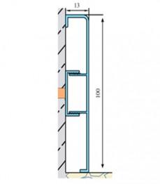 ASP 100 - plinta aluminiu - Profile pentru finisaje