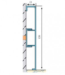 ASP 120 - plinta aluminiu - Profile pentru finisaje
