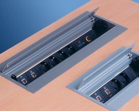 Sistem de management al cablurilor - CONFERENCE - Solutii pentru mobilier birou, sali de conferinta si hoteluri - Facility - BACHMANN
