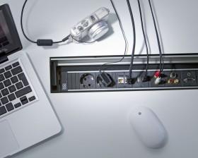 Sistem de management al cablurilor - TOP FRAME - Solutii pentru mobilier birou, sali de conferinta si hoteluri - Facility - BACHMANN
