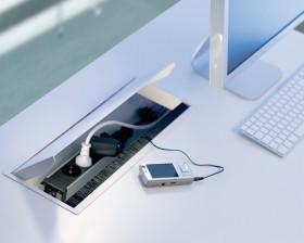 Sistem de management al cablurilor - CONI COVER - Solutii pentru mobilier birou, sali de conferinta si hoteluri - Facility - BACHMANN