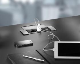 Sistem de management al cablurilor - POWER FRAME COVER - Solutii pentru mobilier birou, sali de conferinta si hoteluri - Facility - BACHMANN