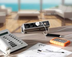 Multipriza - DESK 2 - Solutii pentru mobilier birou, sali de conferinta si hoteluri - Facility - BACHMANN