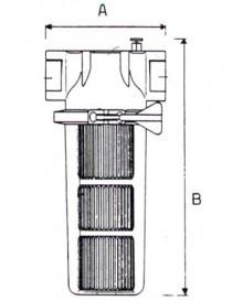 Filtru FCP 120 cu cartus INOX - Filtre de apa pentru uz industrial