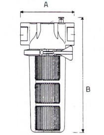 Filtru FCP 180 cu cartus INOX - Filtre de apa pentru uz industrial