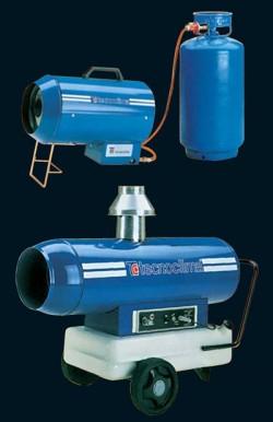 Generatoare de aer cald cu capacitate mica - TECNOCLIMA DGK, DGP, DGS - Generatoare de aer cald cu capacitate mica - TECNOCLIMA