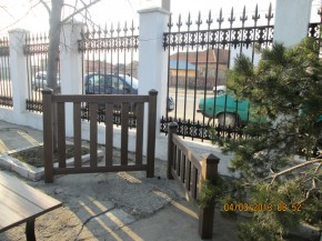 Gard din lemn WPC - Mobilier urban din material compozit WPC