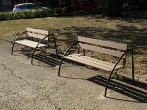 Bancute din lemn WPC - Mobilier urban din material compozit WPC