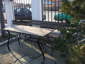Bancuta si masa din lemn WPC - Mobilier urban din material compozit WPC