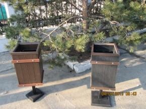 Cosuri de gunoi din lemn WPC - Mobilier urban din material compozit WPC