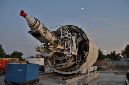 Foto www.magistrala5.ro - TBM-urile sunt cele mai mari masini de forat care au functionat vreodata in Romania