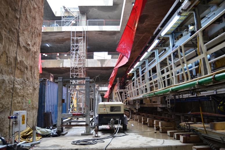 Santier academia militara Foto www magistrala5 ro - Lucrari in subteran de cea mai mare avengura