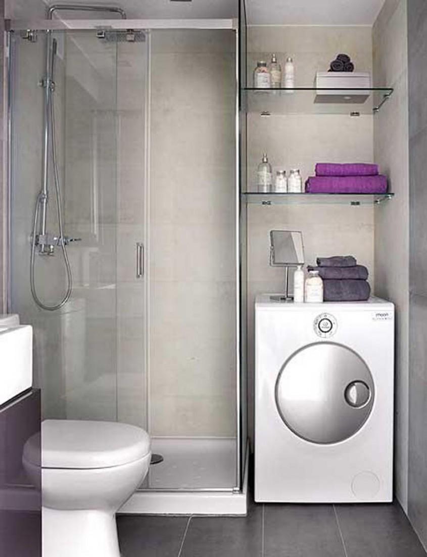 Sau chiar langa cabina de dus in baie cu conditia ca usa sa fie rabatabila in