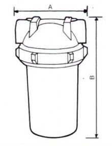 Filtru FCP 010 cu cartus - Filtre de apa pentru uz casnic