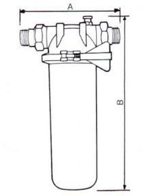 Filtru FCP 050 cu cartus  - Filtre de apa pentru uz casnic