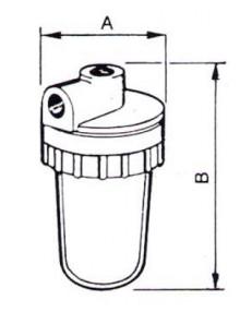 Filtru FCR 08 cu cartus  - Filtre de apa pentru uz casnic