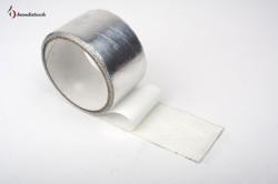 Banda adeziva aluminiu gofrat - Benzi adezive si garnituri - BANDATECH