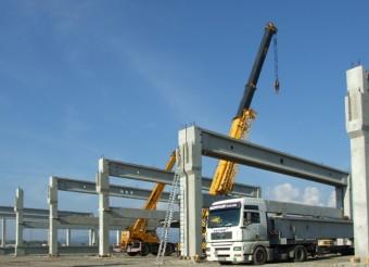 Complex comercial Deva - Elementele prefabricate din beton
