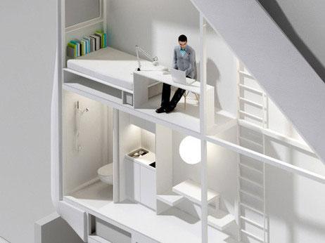 Foyo via apartmenttherapy.com - Cine si cat timp ar putea locui astfel? Scriitorul Etgar Keret crede ca lui i se potriveste