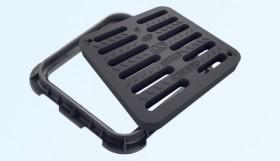 Capac pentru canalizare cu gratii, clasa C250 - Capace pentru canalizare din material compozit